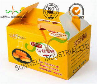 Çin Custom Printed Foldable Cardboard Food Packaging Boxes For Cup Cake / Dessert Packing Tedarikçi